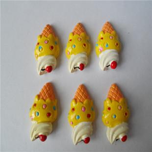 仿真樱桃草莓冰淇淋树脂配件 diy发饰品材料 diy手机美容配件