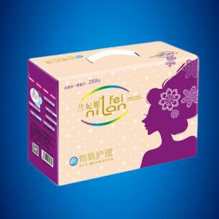 礼盒装负离子卫生巾厂家生产加工oem高档除臭卫生巾