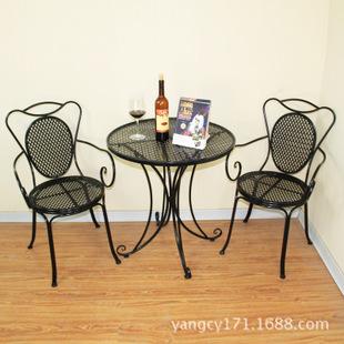 欧式铁艺桌椅 阳台桌椅 户外休闲桌椅 三件套桌椅庭院