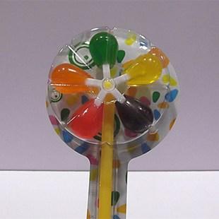 手工 五彩大风车棒棒糖 玩具糖 可以玩可以吃 儿童糖果 20克