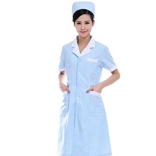 厂家直销 医生护士服夏天新款短袖药店工作服医用大褂批发