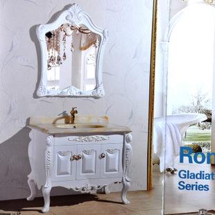 欧式大理石台面落地浴室柜卫生间洗脸盆组合厂价直销