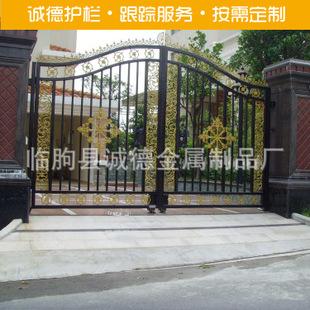 欧式复古 铁艺大门 建筑小区大门