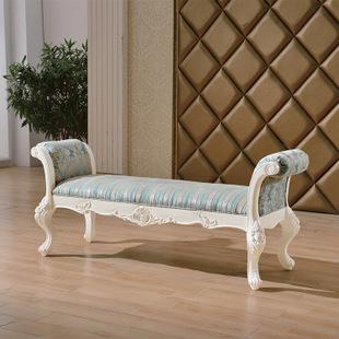 欧式床尾凳新古典床尾凳脚凳样板房卧室床尾凳后现代