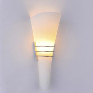 圆柱壁灯卧室灯 壁挂现代简约磨砂玻璃壁灯走廊过道
