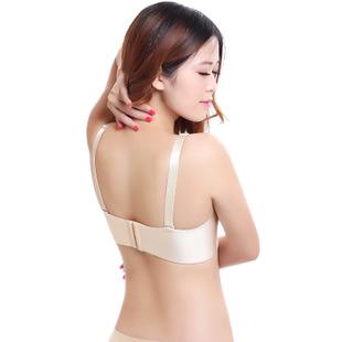 微信宫廷拉丝文胸内衣无痕聚拢调整型胸罩3D立体深V防外扩