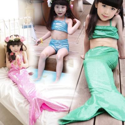 厂家直销新款泳衣批发 冰雪奇缘儿童游泳衣 女童美人鱼泳裙套装