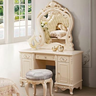 厂家直销 欧式梳妆台 雕花实木梳妆台 酒店妆台 会所妆台 化妆桌