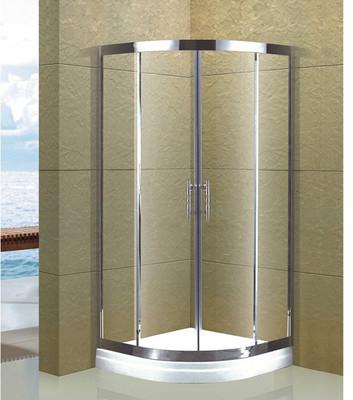 四川成都淋浴房 卫生间浴室隔断 钢化玻璃 圆弧形