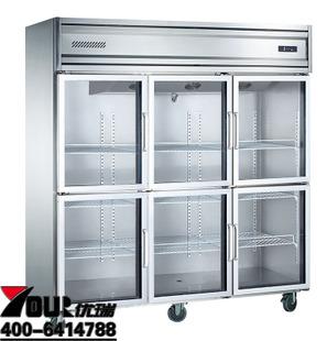 厂家直销四门双温厨房冰柜 厨房冰箱 厨房冷藏冷冻柜 四门南京