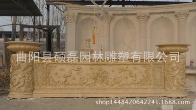 天使浮雕 埃及米黄吧台