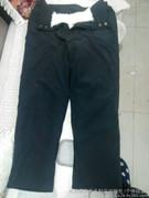 羊毛短毛裤子/保暖裤子皮裤
