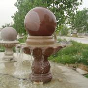 建宾石雕汉白玉喷泉室内喷泉风水球大理石风水球