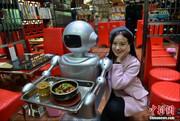 穿山甲送餐机器人供应_款送餐机器人制造商