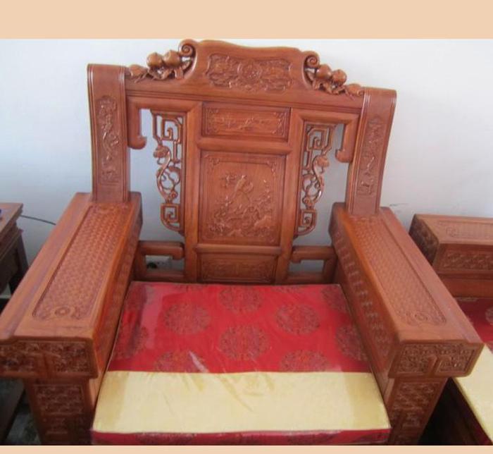 实木如意象头沙发仿古家具