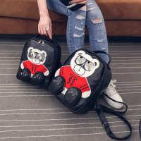 新款可爱小熊卡通双肩包女包包夏季女式休闲迷你小背包旅行包纸箱