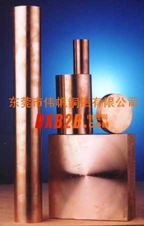 高硬度C17500铍青铜棒密度杭州QBe1.9铍铜棒产品信息