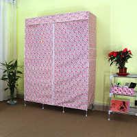 简易衣柜涤棉布衣柜布艺折叠组装宜家布衣橱加固加后涤棉布衣柜