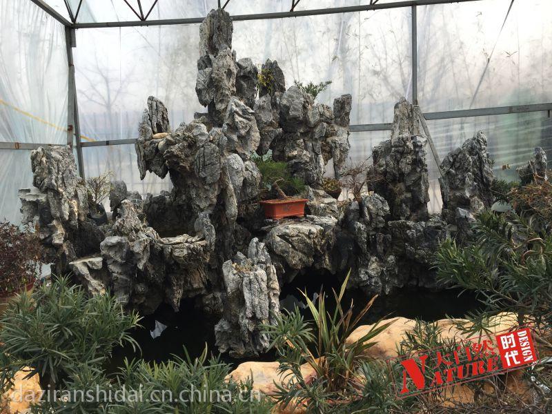 青岛厂家批发设计制作英石假山石