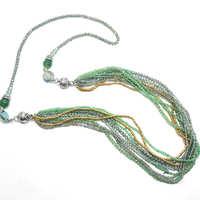 串珠米珠项链定做磁铁扣连接外贸项链项链来图来样定做