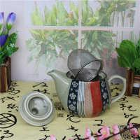 特价出口尾单清仓日韩手绘陶瓷大茶壶复古ZAKKA茶具花茶壶批发
