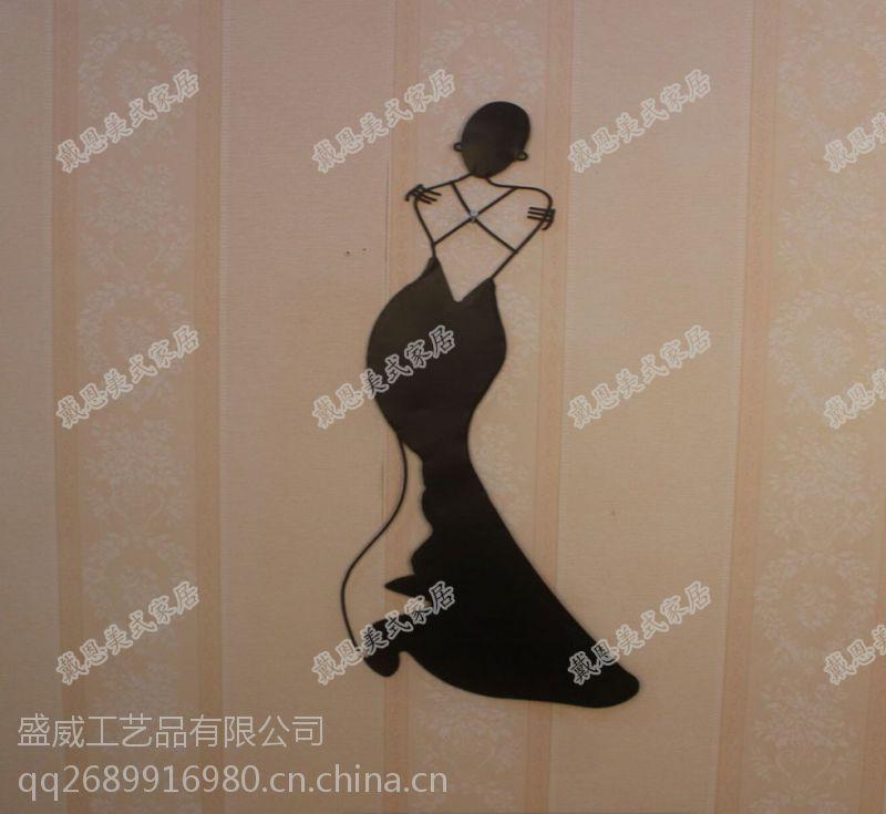 铁艺品欧式复古创意人物壁挂酒吧餐厅会所装饰品