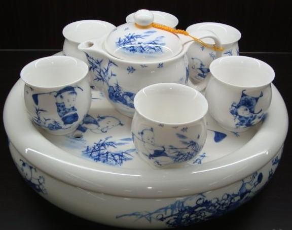 供应景德镇陶瓷茶具价格青花茶具手绘陶瓷茶具高档功夫茶具