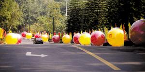 商务会展年会气球装饰,商务会展布置