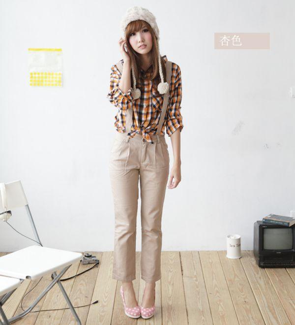 2012早秋装新款韩版女修身显瘦清仓吊带休闲裤铅笔小脚裤一件代发