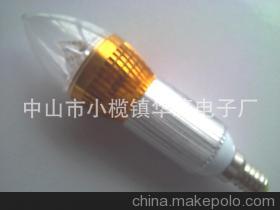 厂家直销LED蜡烛灯LED节能环保塔形尖尾蜡烛灯大功率LED蜡烛灯