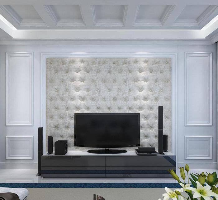欧式实木护墙板白色高档实木电视背景墙隐形门墙裙定制