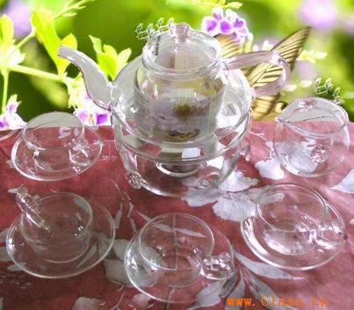 玻璃茶具套装/花语茶具0001