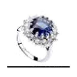 威廉王子凯特王妃订婚蓝宝石戒指戒指批发锆石戒指-爱情石4412-73