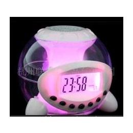 自然声幻彩球闹钟焕彩七彩变色闹钟电子LED钟创意闹钟