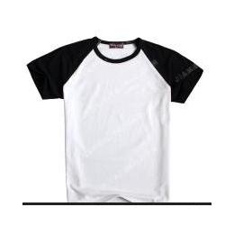 Win-ing6色插色肩男女童装空白T恤