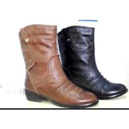 加工生产新款冬季短靴品牌真皮靴子女鞋OEM来料来图加工定做