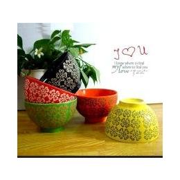 大量现货厂家直销清仓日韩式五彩碗五色碗亏本多款式选择