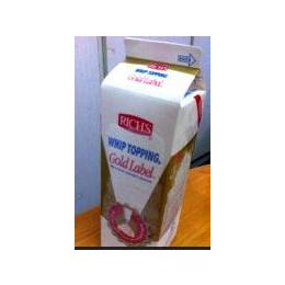 大连修竹批发供应维益金钻鲜奶油1kg*12植物性奶油