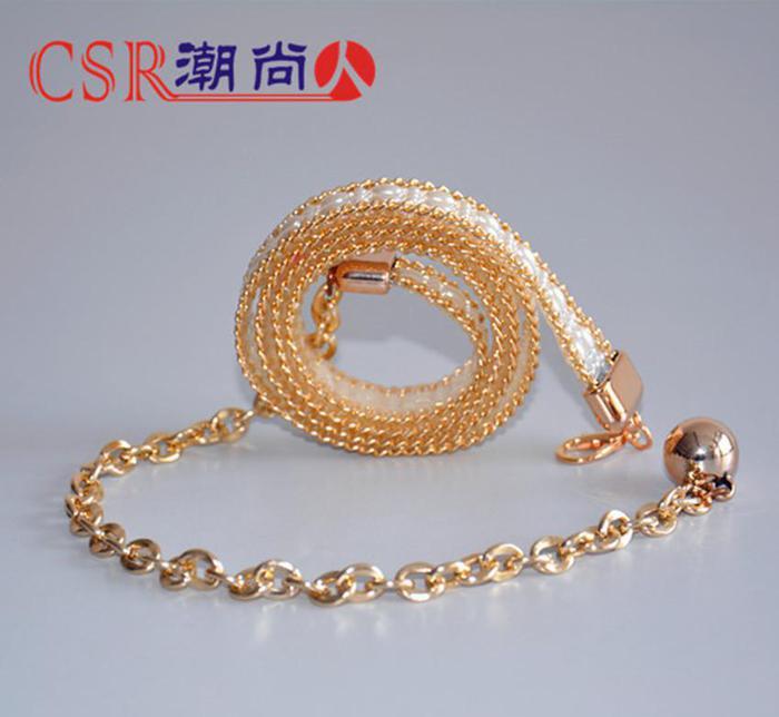 厂家直销创意女士装饰腰带珍珠腰链LD125#腰饰批发