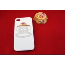 带钻iphone4/4s/5手机壳满钻大嘴猴手机壳高档水钻卡通手机壳