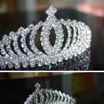 儿童发夹大皇冠水钻女孩女童公主头冠新娘发饰王冠