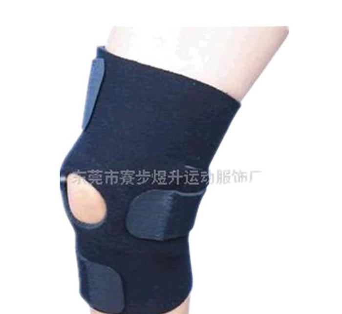 厂家直销户外运动护膝登山跑步骑行护膝半裸成人足球运动护膝橡胶