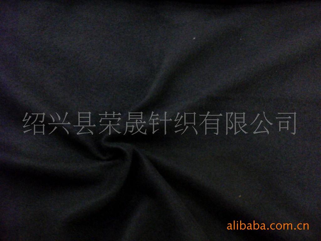 厂家直销现货供应160克黑色低弹单面摇粒绒