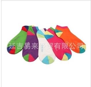 可爱糖果袜拼色袜女短筒纯棉袜WT011