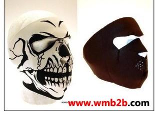 骑行摩托户外骷髅防风面罩护具面具护脸鬼面