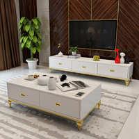新品客厅简约烤漆茶几电视柜组合 不锈钢电视机柜地柜 矮柜视听柜