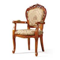 酒店会所实木餐椅复古太师椅 酒店实木雕花餐椅 茶楼咖啡厅餐椅