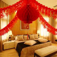 包邮蜡纸灯笼婚礼喜庆拉花结婚庆用品新婚房装饰喜字道具布置