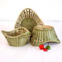 广西竹编篮 竹制品纯手工 家用洗菜装水果筐 干果盘收纳篮 馒头筐