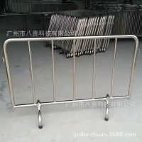 广州生产304不锈钢移动铁马定制201材质厂家支持订做活动脚铁马